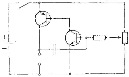 Рис. 5. Электросхема, выполненная с помощью штампов.