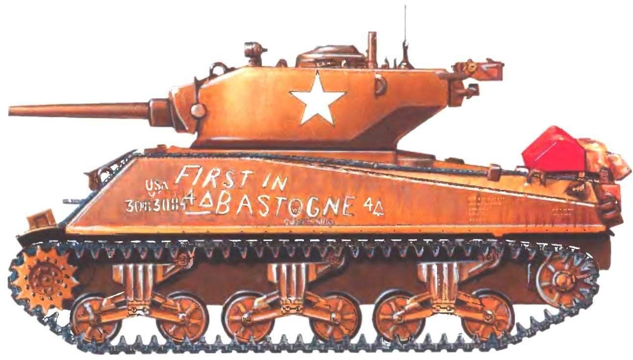 Танк М4АЗЕ2 Cobra King. Рота «С» 37-го танкового батальона 4-й танковой дивизии. Бастонь, декабрь 1944 г.