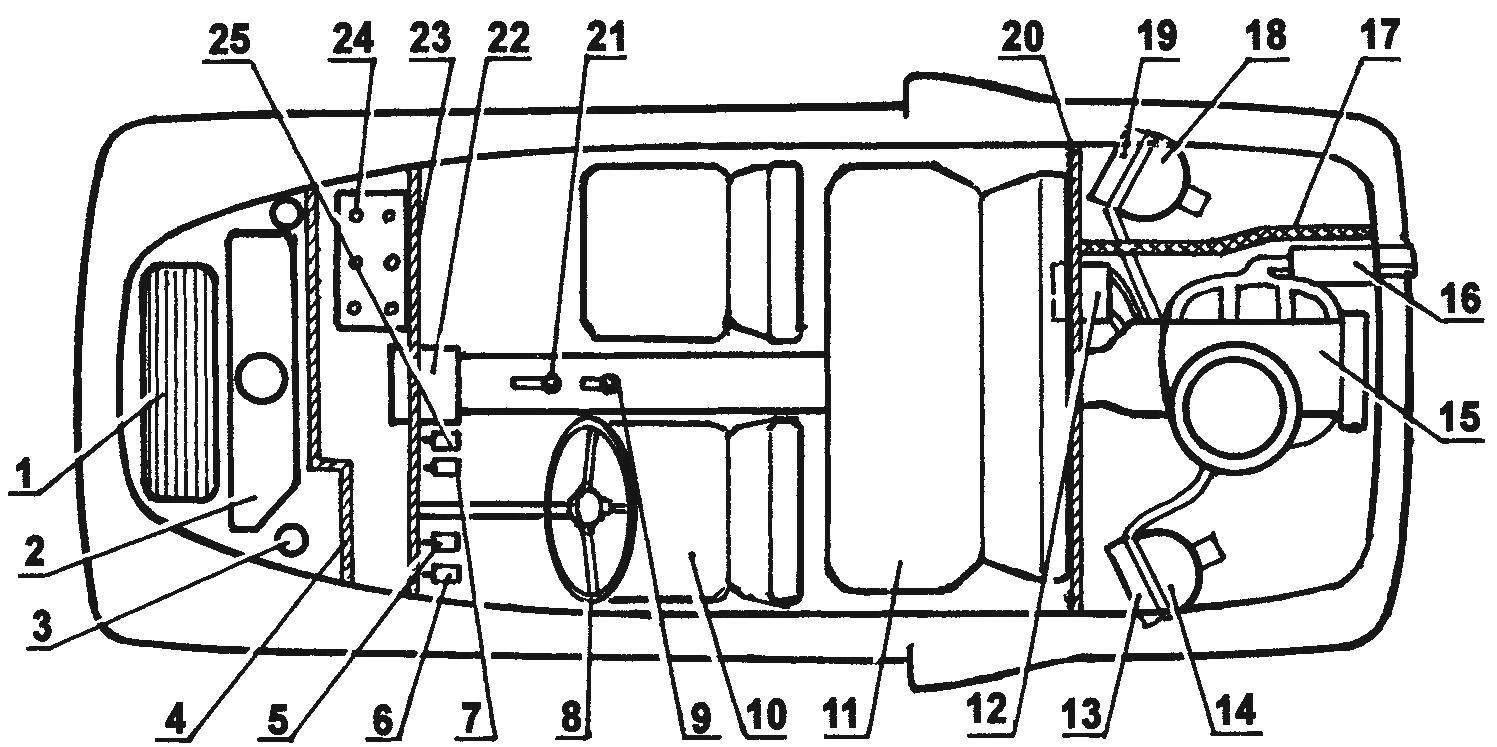 Компоновочная схема автомобиля «Багира»