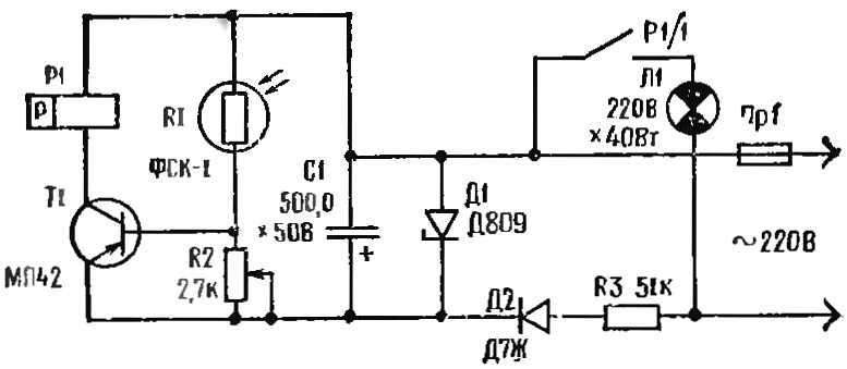 Fig. 4. The circuitry of the target.