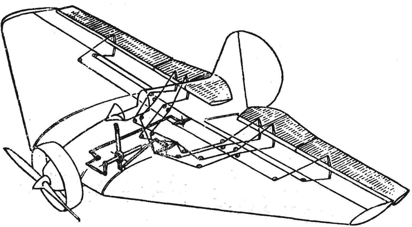Fig. 1. Wiring of Elevator control and ailerons of the aircraft,