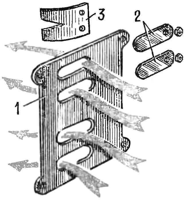 Рис. 3. Конструкция впускной системы подвесного лодочного мотора «Ветерок»