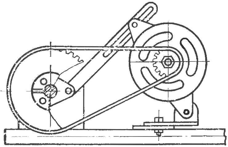 Рис. 5. Двигатель на раме.