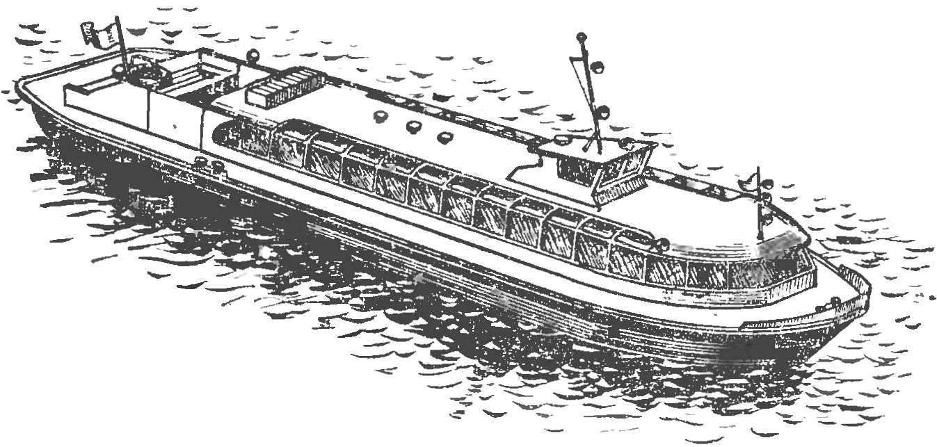 THE MODEL OF RIVER PASSENGER SHIP