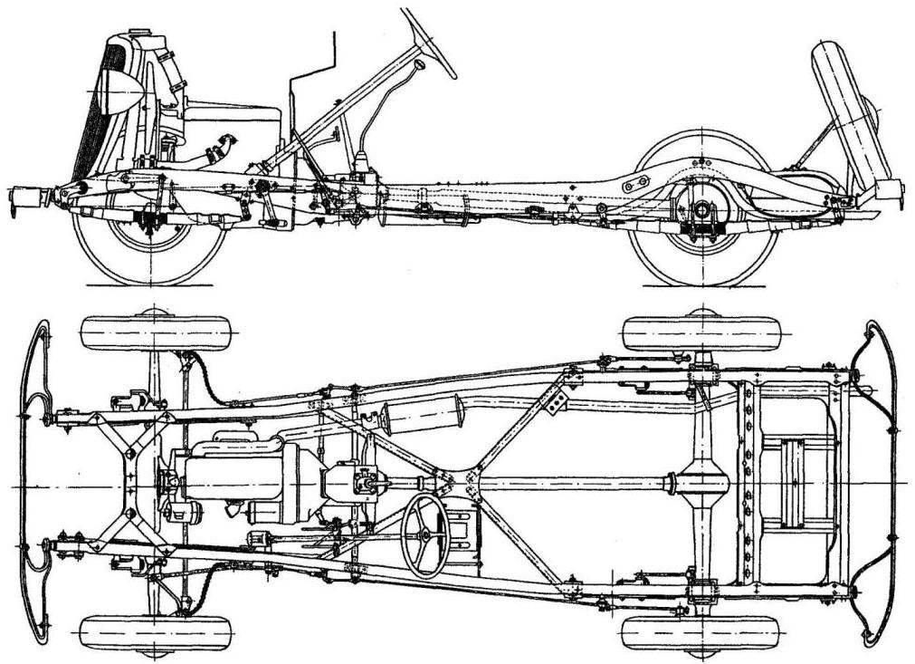 Компоновка ходовой части автомобиля ГАЗ М-1