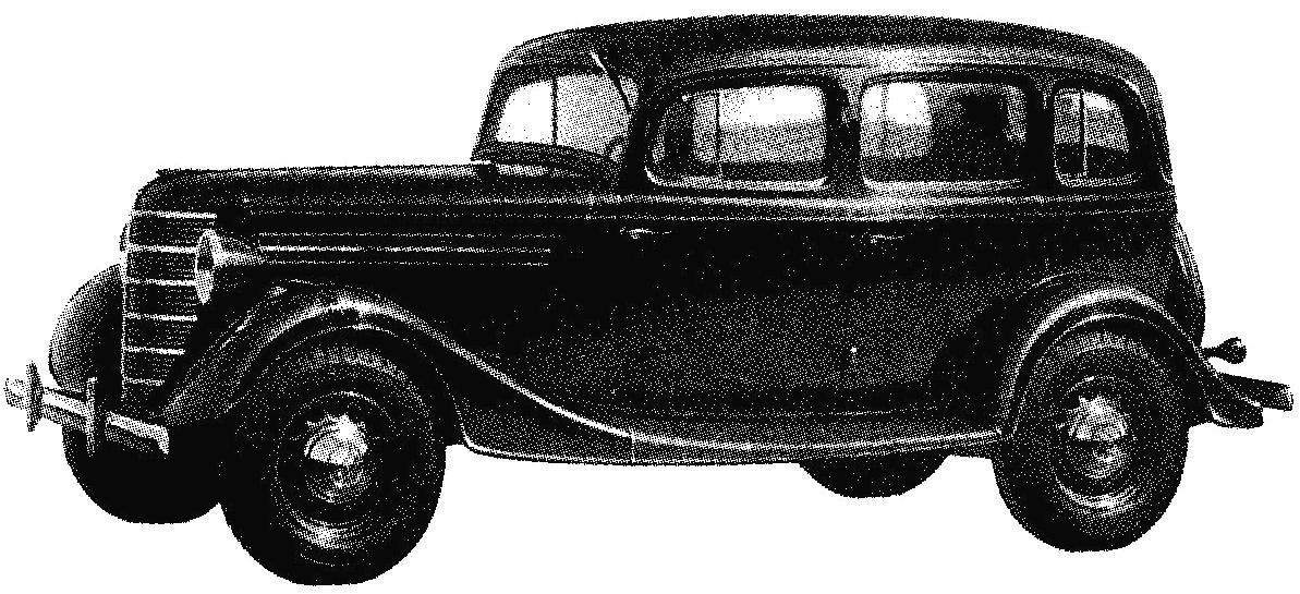 Автомобиль ГАЗ-11-73 выпуска 1940 года с 6-цилиндровым двигателем мощностью 76 л.с.