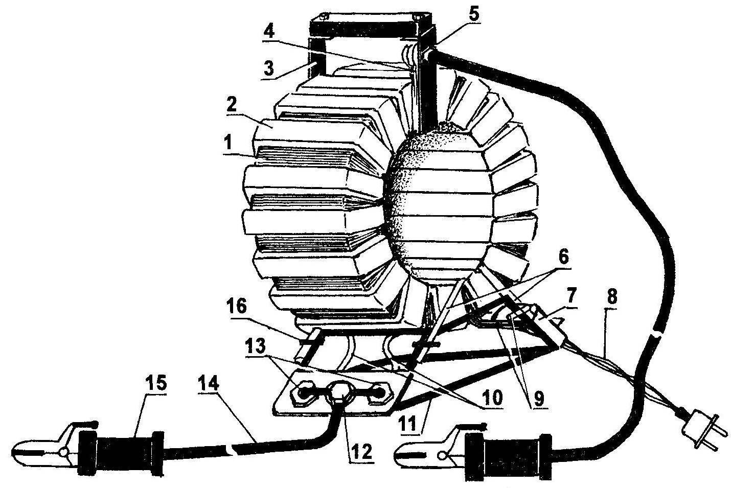 Рис. 1. Общий вид пускового устройства с однофазным трансформатором
