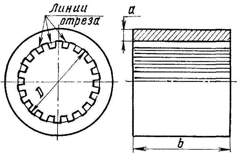 Рис. 2. Магнитопровод (тороидальный сердечник) — доработанный статор асинхронного электродвигателя (зубцы срубить по кругу)