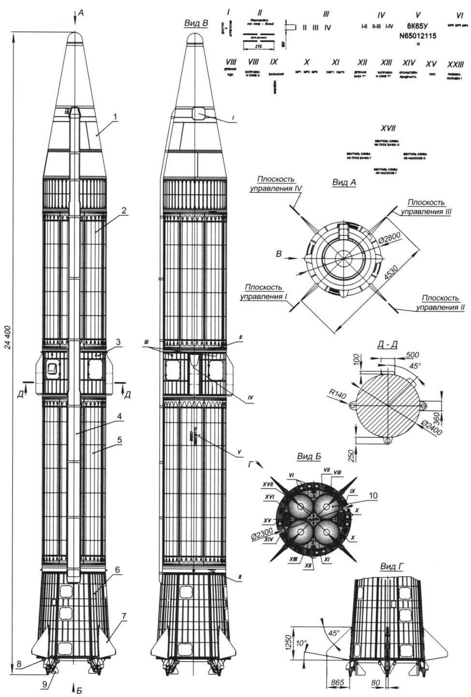 Рис.1. Баллистическая ракета средней дальности (индекс 8К65)