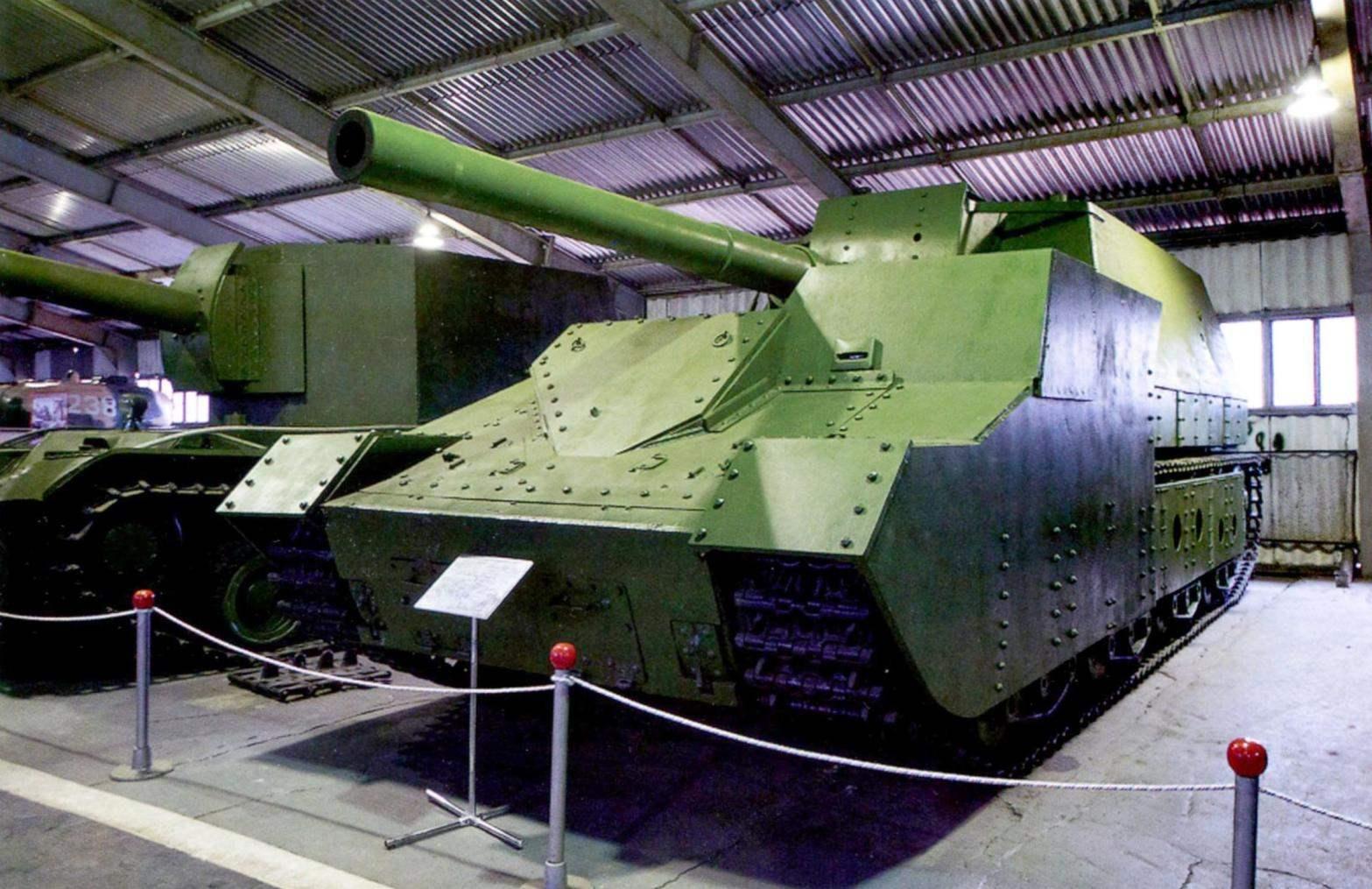 Самоходная 152,4-мм установка СУ-14Бр-2 с закрытой броневой рубкой. Военноисторический музей бронетанкового вооружения в подмосковной Кубинке