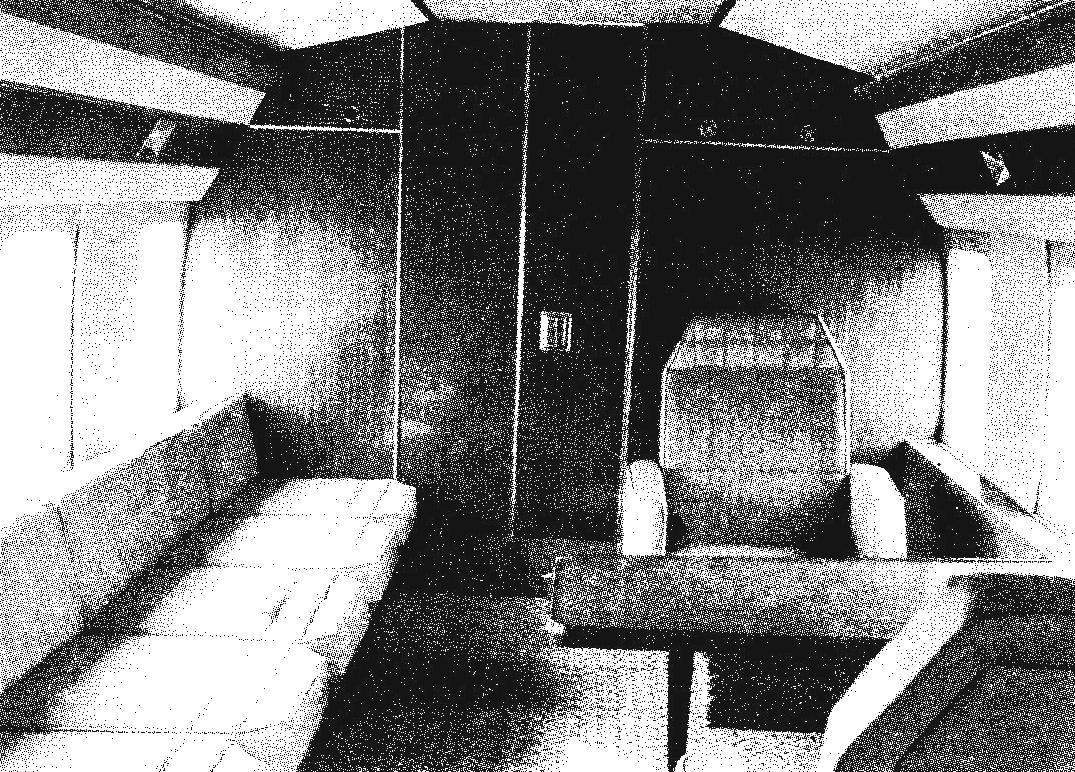 One of the options of 7-seater cabin of the helicopter Mi-8