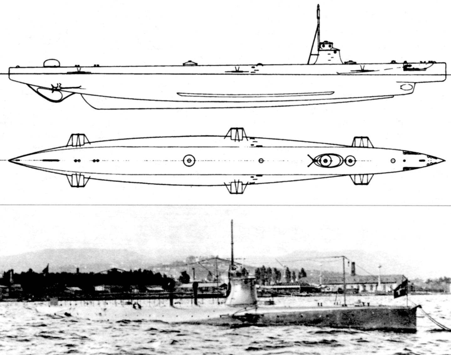 Подводная лодка «Нарвало», Италия, 1907 г.