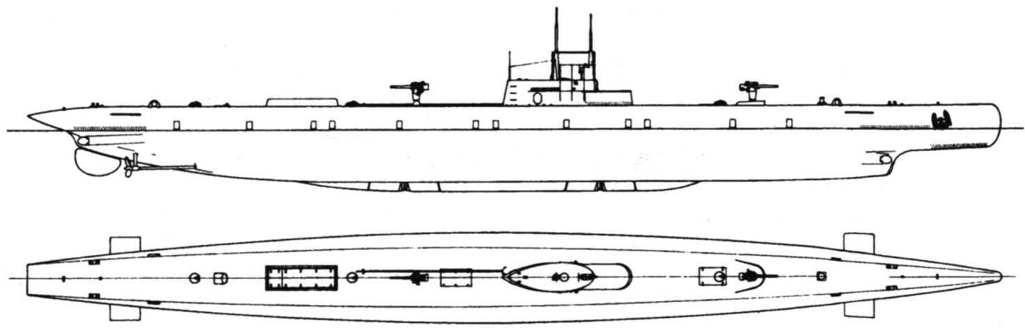 Подводная лодка «Антонио Пачинотти», Италия, 1916 г.