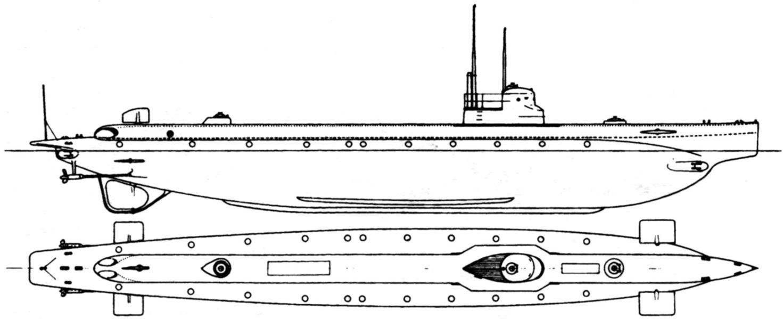 Подводная лодка «Джасинто Пуллино», Италия, 1915 г.