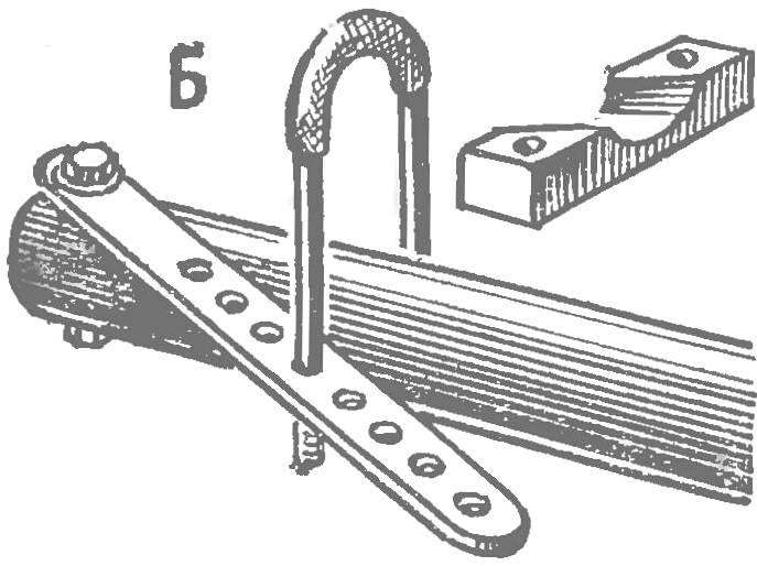 Fig. 4. Modification of knots used sections of gliders Tomsk, Leningrad and Rostov-on-don