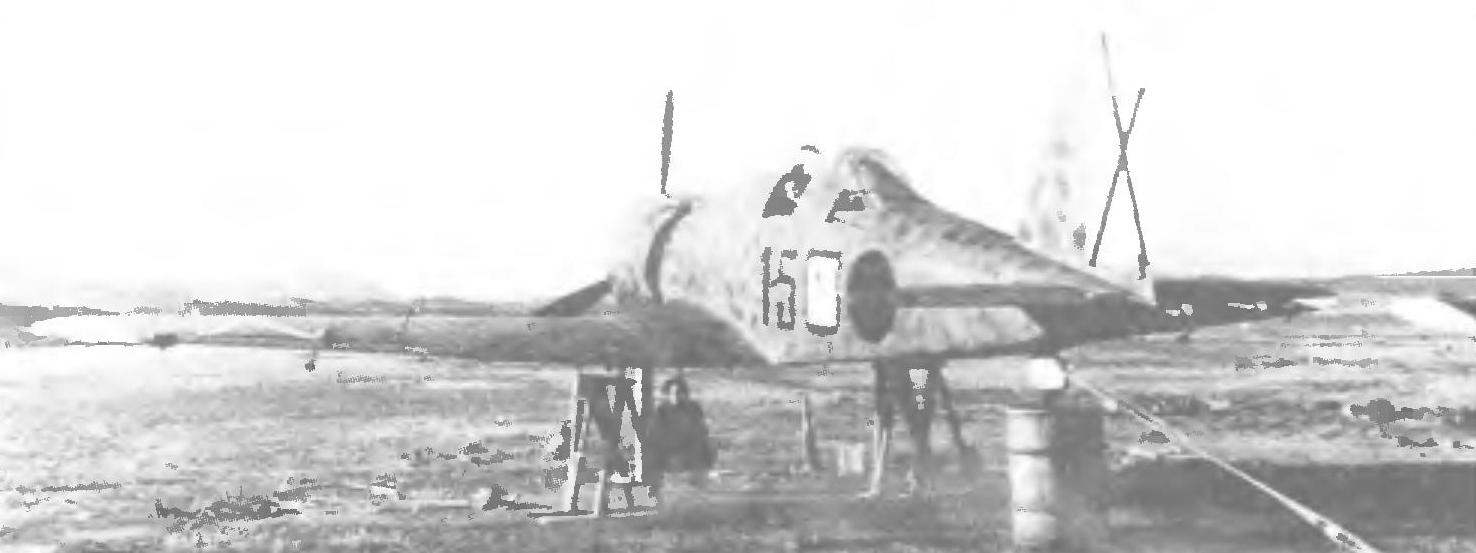 Repair fighter G. 50 in the field