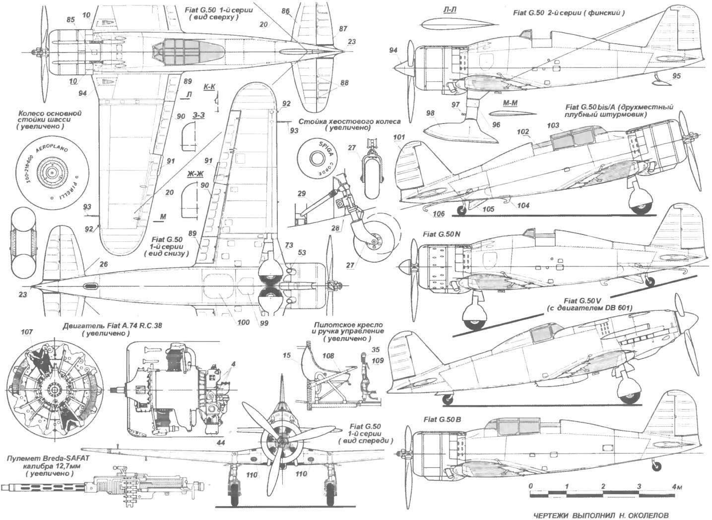 The Italian fighter FIAT G. 50