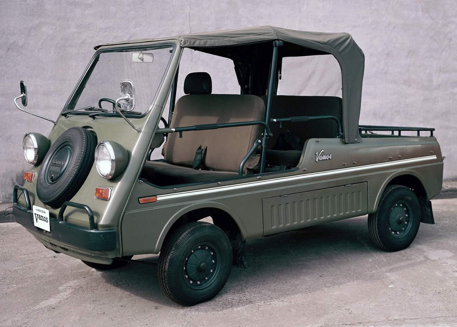 Open car wagon Honda Vamos 1970 sample. Readers of