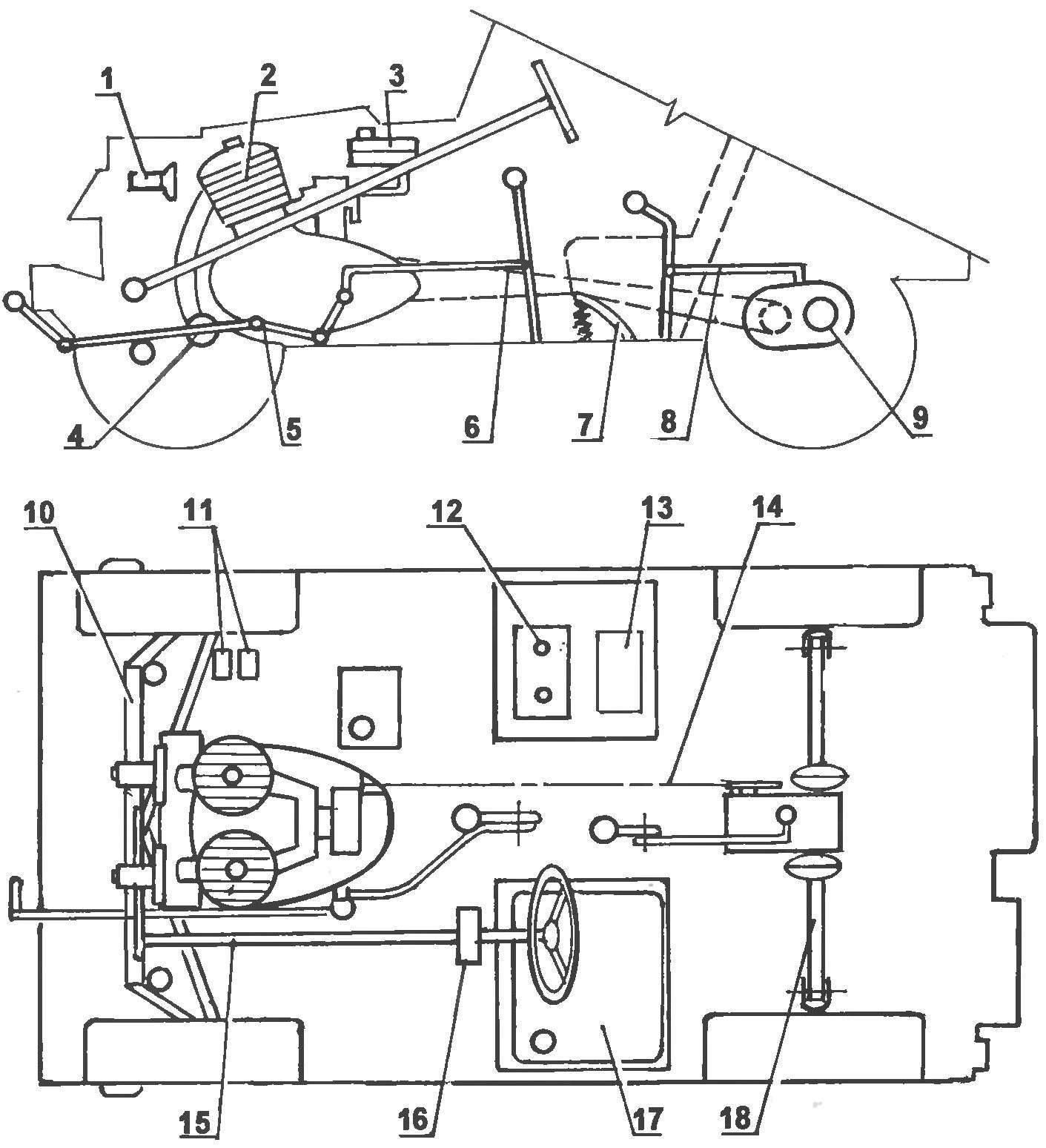 Компоновка основных узлов и агрегатов