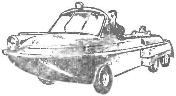 Рис. 3. Быстроходная амфибия пермского шофера Ф. Минцеля.