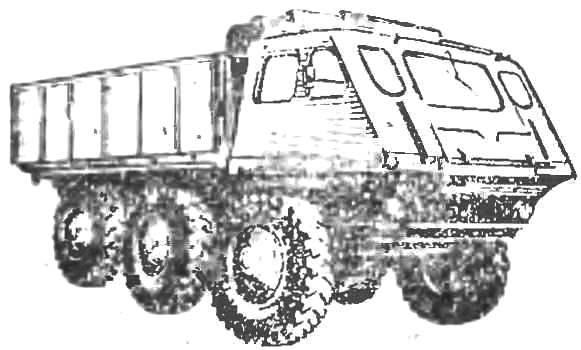 Рис. 7. Автомобиль-амфибия «столвэт»