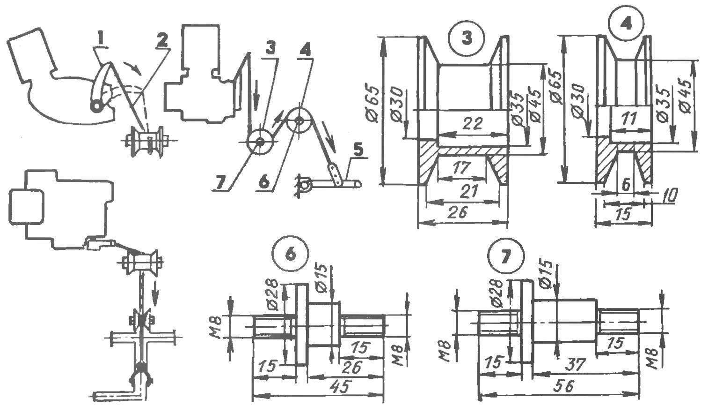 Схема механизма пуска двигателя
