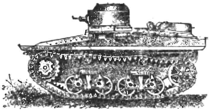Рис. 1. Малый плавающий танк Т-37А.