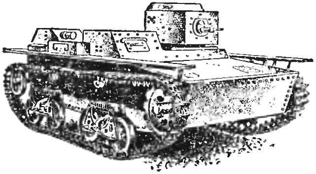Рис. 2. Малый плавающий танк Т-38.