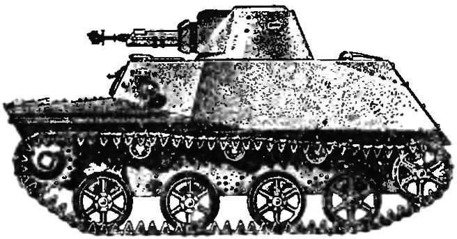 Рис. 3. Плавающий танк Т-40.