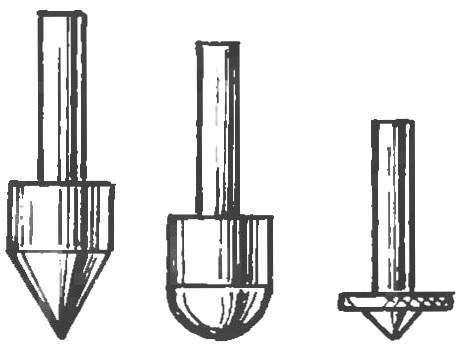 Выпуклые наконечники для выжигания трением с помощью дрели