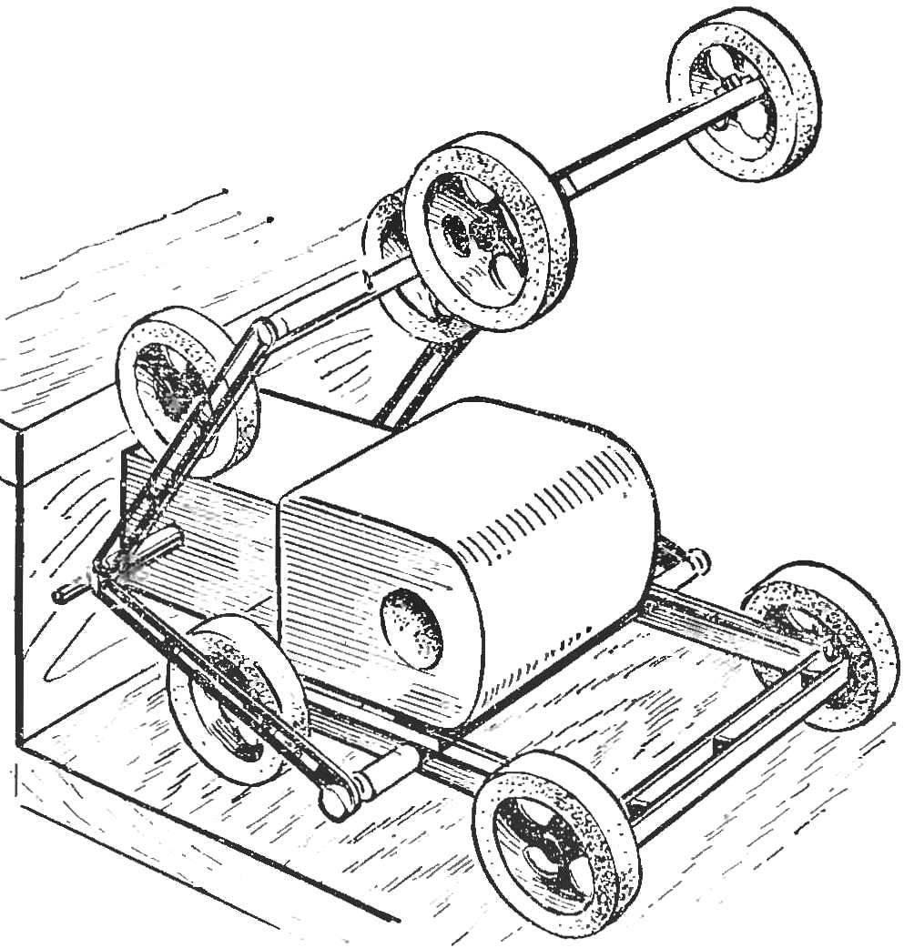 Рис. 2. Колесно-шагающий механизм.