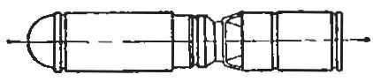 Рис. 5. Противотанковая авиационная бомба ПТАБ-2, 5-1, 5 (М 1 : 10).