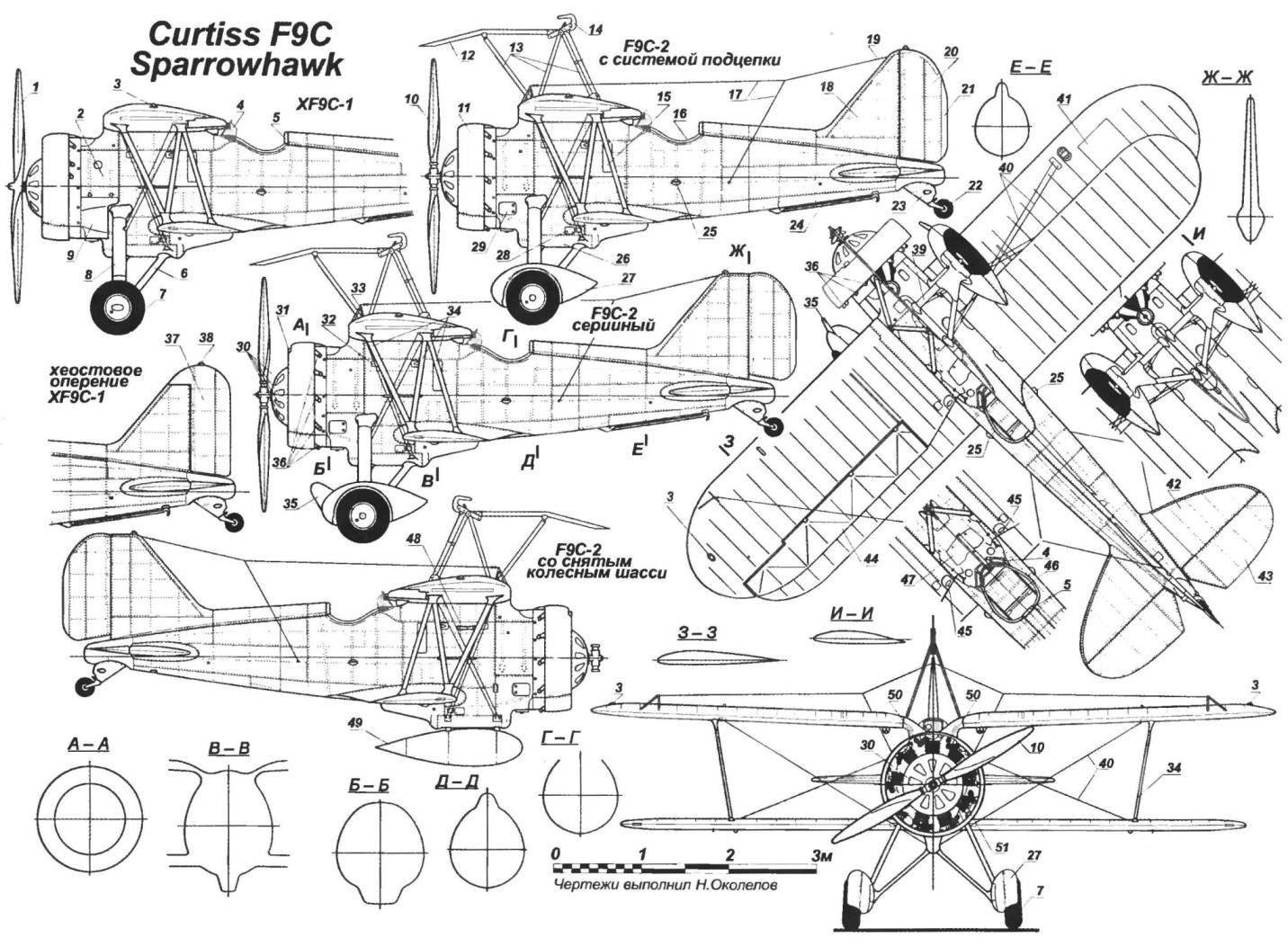 Бортовой истребитель F9С-2 SPARROWHAWK