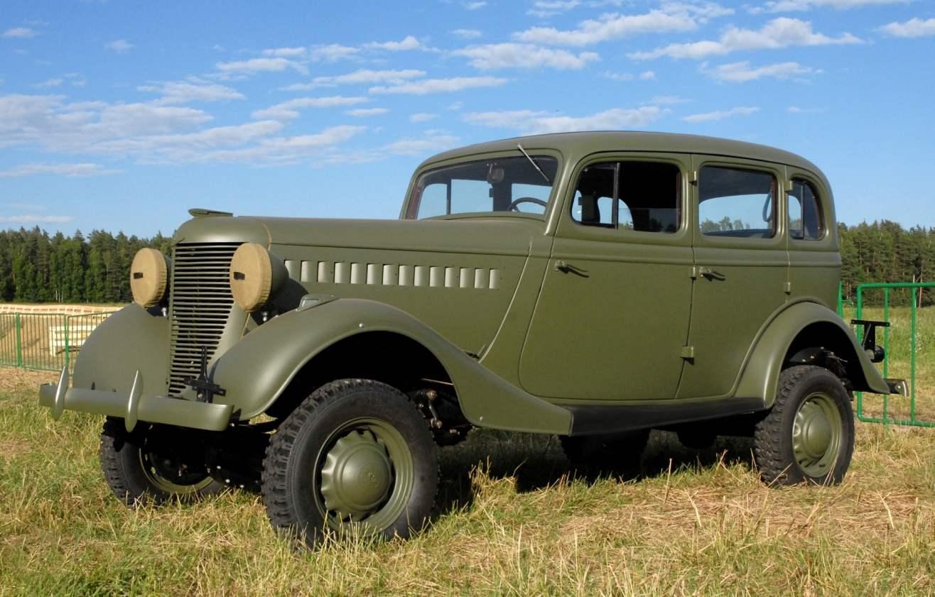 Первый серийный вездеход Горьковского автозавода ГАЗ-61 выпуска 1941 года