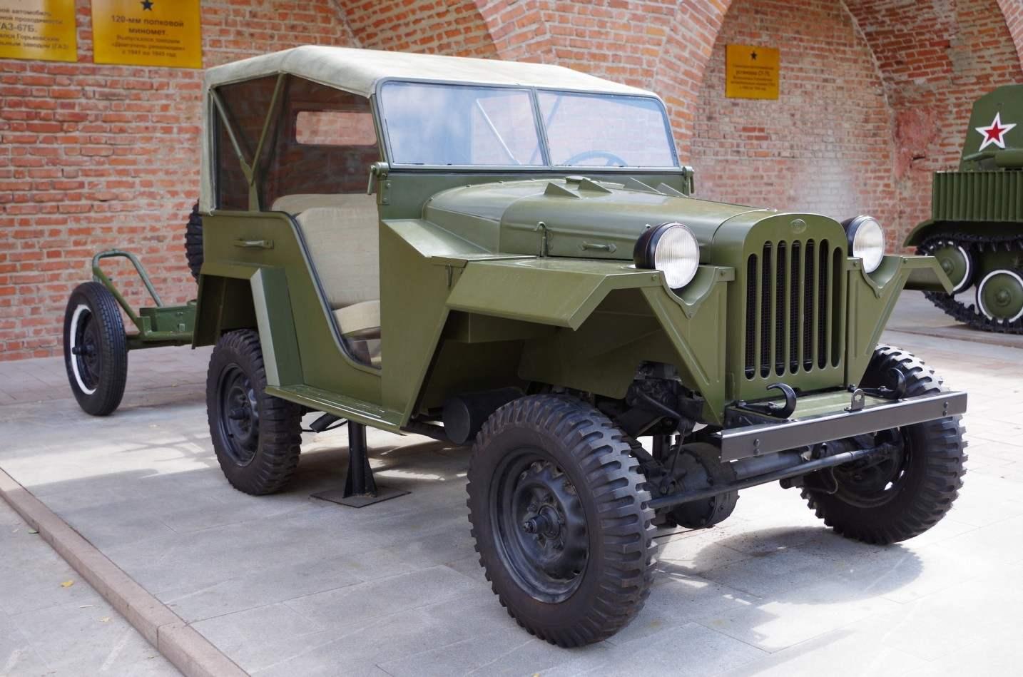 Российский армейский джип ГАЗ-67Б выпуска 1944 года