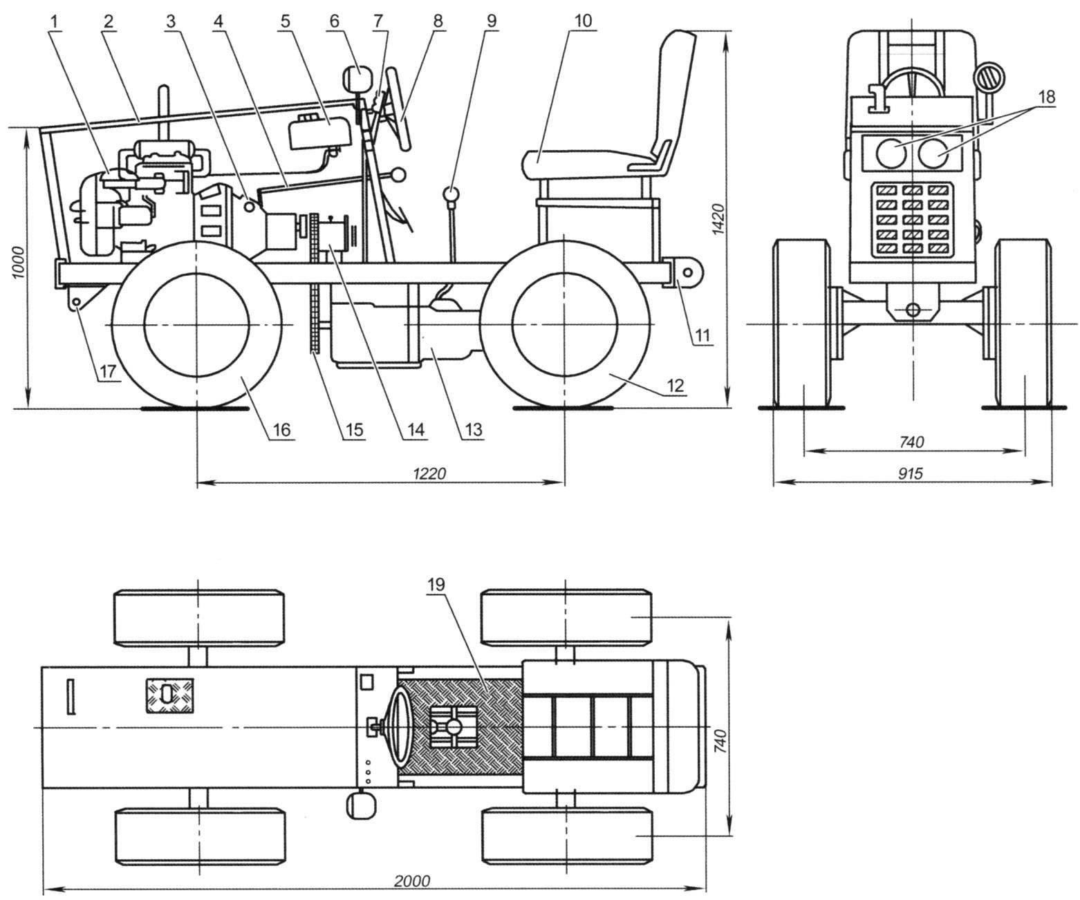 Мини-трактор «Орлёнок»