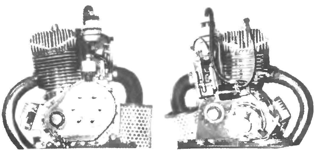 Фото 4. Д-15ц (слева - вид сзади, справа - вид спереди)