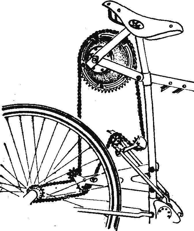 Рис. 2. Схема передачи «барабан — звездочка».