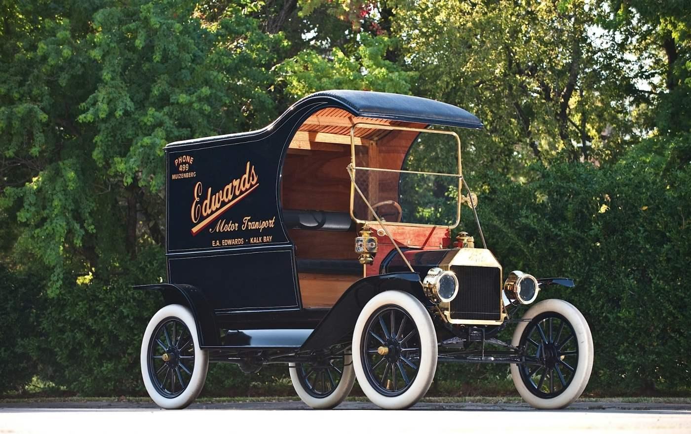 Развозной фургон на шасси «Форд-Т»