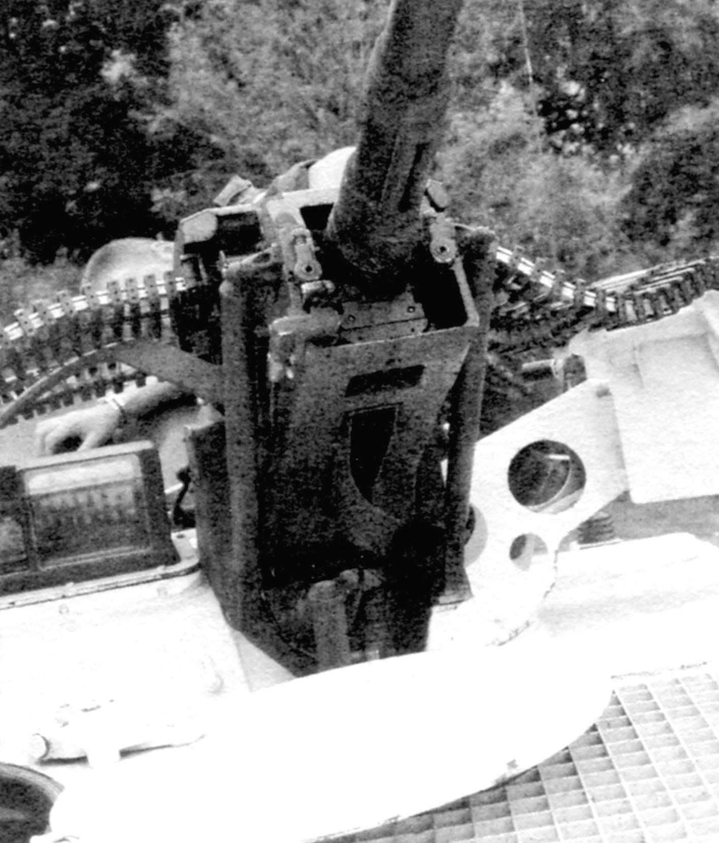 Выстрелы, готовые к стрельбе, были снаряжены в ленты, находившиеся в патронных коробках по обе стороны пушки: 60 бронебойных находились в левой коробке, ещё 100 осколочных - в правой. При открытии огня они по гибким рукавам подавались непосредственно в казённик