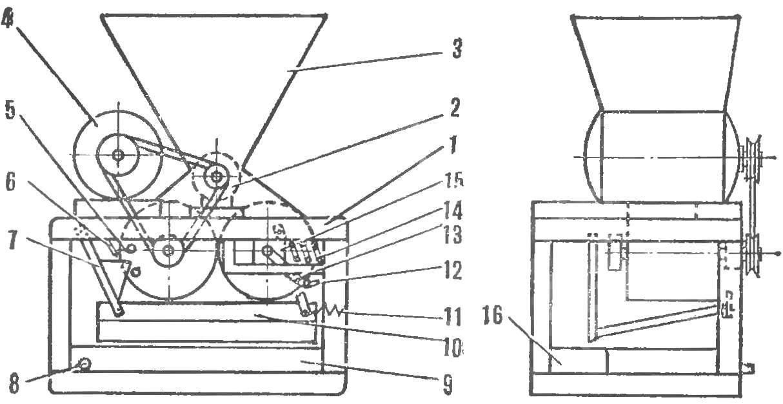 Схема соковыжималки