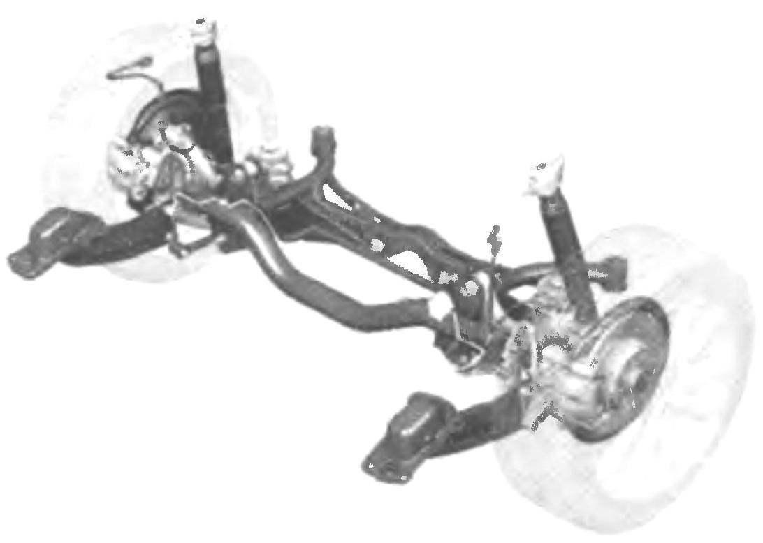 Four-link rear suspension