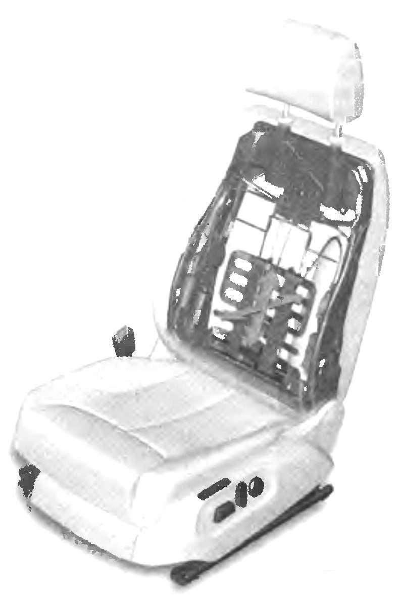 Конструкция водительскою кресла
