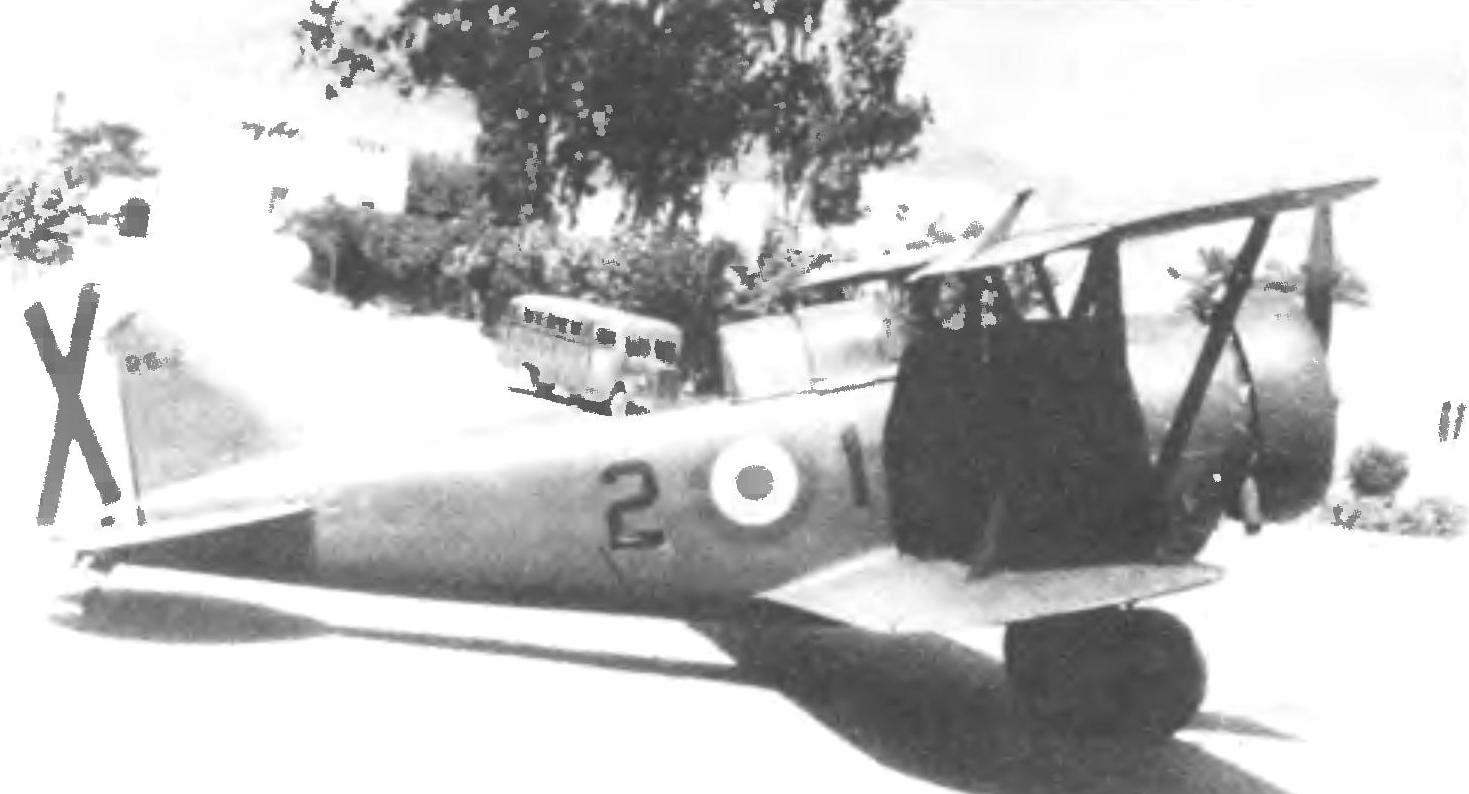 Истребитель G-23 испанских ВВС