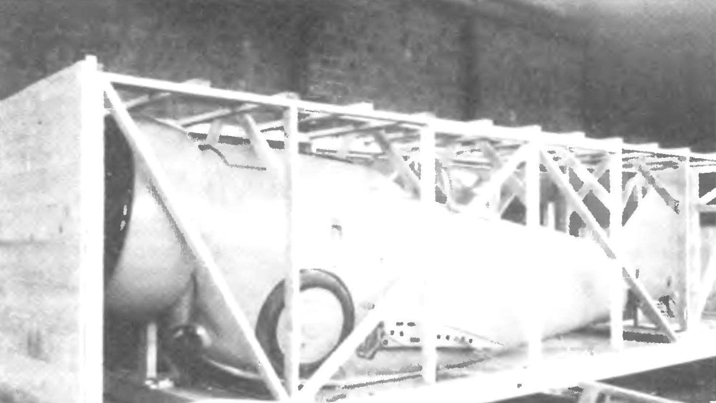 Истребитель G-23 упакован для отправки в Испанию