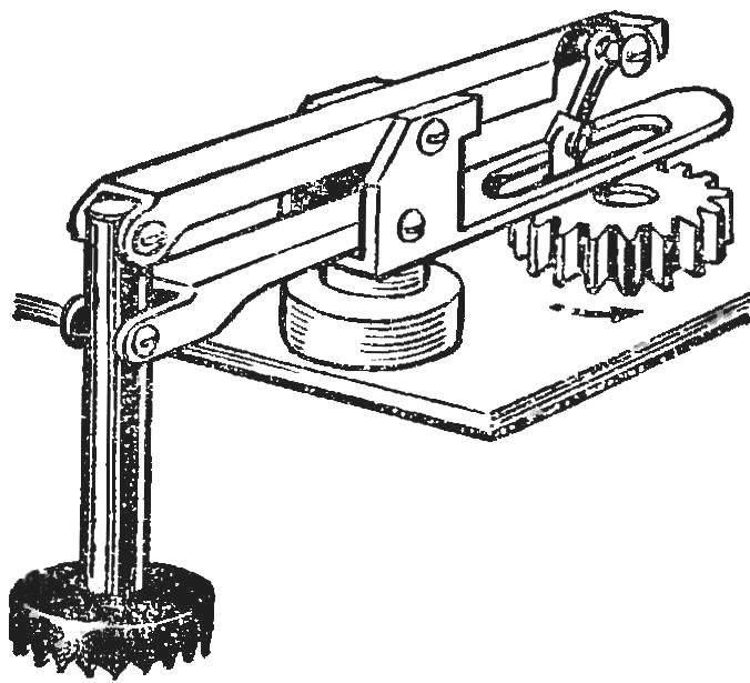 Рис. 2. Конструкция «ноги» шагохода.
