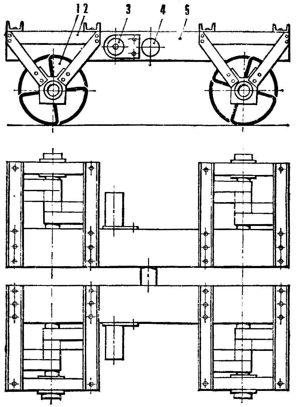 Рис. 5. Транспортная машина с дискретным движителем