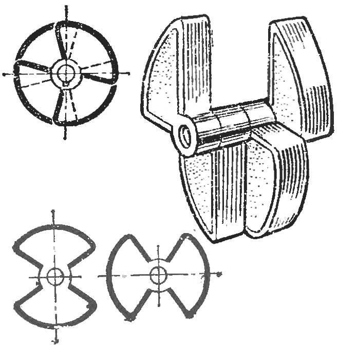 Рис. 6. Варианты дискретного движителя