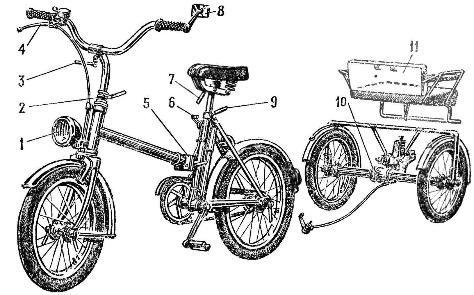 Рис. 1. Общий вид велосипеда «комби»