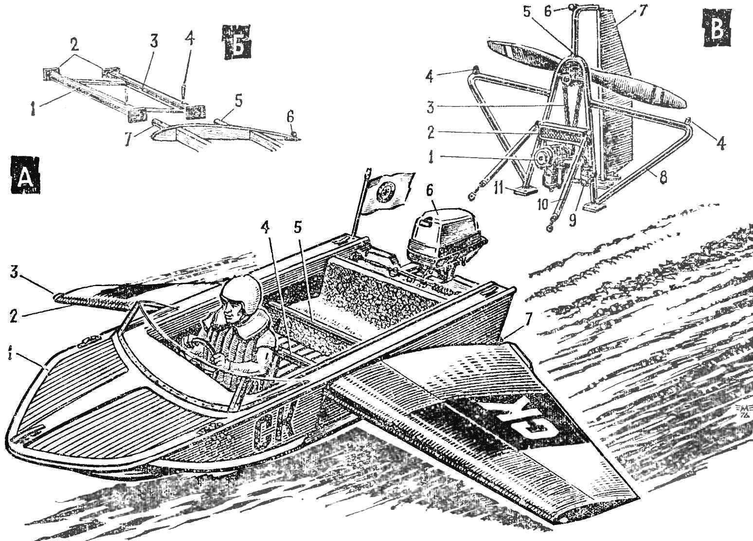 Рис. 1. Общий вид и детали конструкции